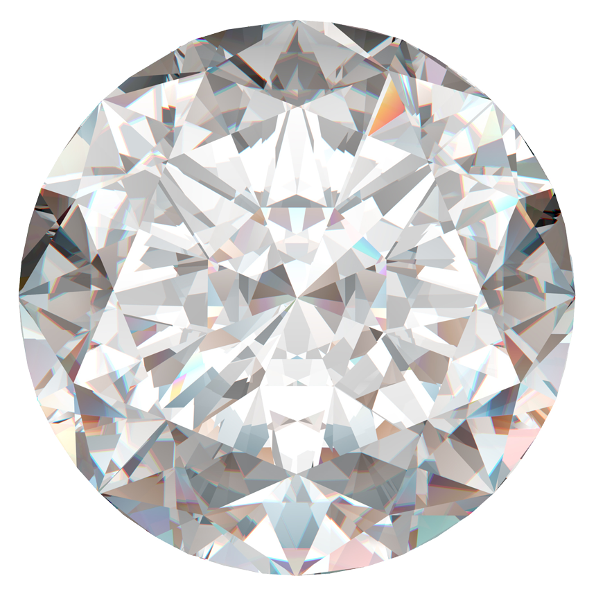 0.76 Carat Round Diamond / H / VS2